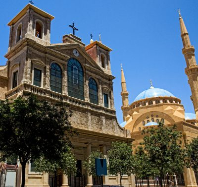 Fotografía catedral maronita en Beirut, Líbano