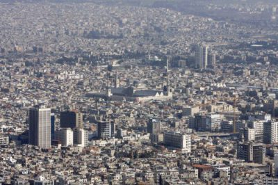 Foto de Damasco (Siria). La foto es anterior a la guerra.