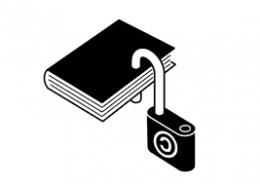 ¿Qué es la fe? Dibujo de un libro con un candado abierto, pero no quitado