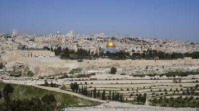 Fotografía panorámica de la ciudad de Jerusalén