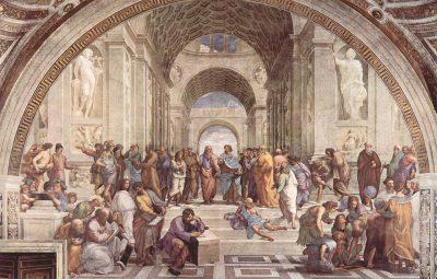 La Academia de Atenas. Fresco pintado por Rafael Sanzio