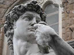 Antropocentrismo. Fragmento de la escultura del David de Miguen Ángel