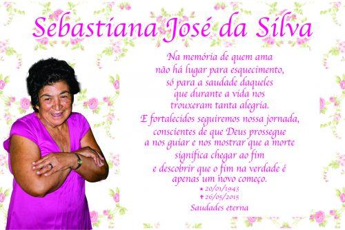 Esquela de Doña Sebastiana José da Silva