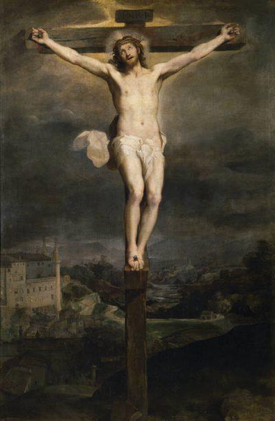 La pasión de Cristo. Cristo en la cruz. Cuadro de Barocci