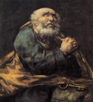 San Pedro. Cuadro de Francisco de Goya