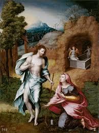 Cristo resucitado es el fundamento de nuestra fe. Noli me tangere. Cuadro de Jerónimo Cósida