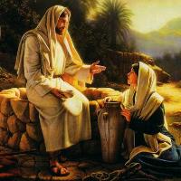 Jesús con la samaritana
