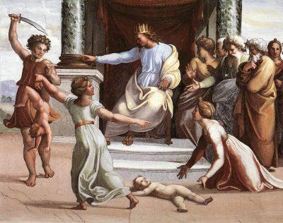 El juicio de Salomón. Cuadro de Raffaello Sanzio