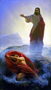 Tentaciones de Jesús. Cuadro de Carl Heinrich Bloch.