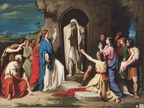 La resurrección de Lázaro. Cuadro de José Casado del Alisal