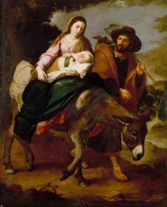 La huida a Egipto. Cuadro de Bartolomé Murillo