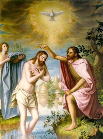 Bautismo de Jesús, Cuadro que se encuentra en la Cartuja de Granada