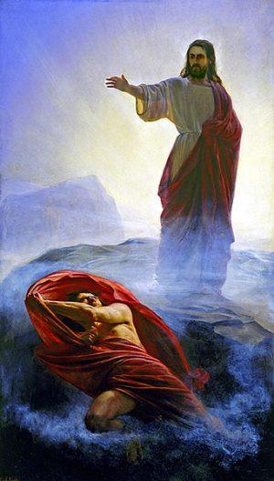 Tentaciones de Jesús. Cuadro de Carl Heinrich Bloch