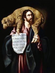 El Buen Pastor. Cuadro de Cristobal García Salmerón