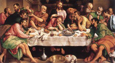 La última cena. Cuadro de Jacobo Bassano