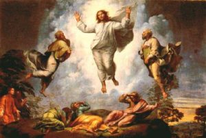 La transfiguración. Cuadro de Rafael Sanzio (1520).
