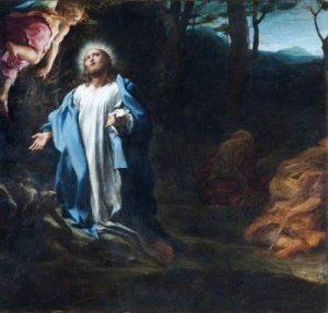 Oración en el huerto. Cuadro de Correggio