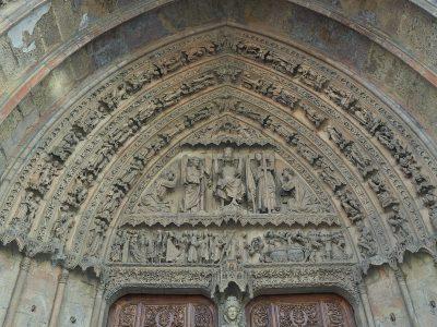 Portada del Juicio final en la catedral de León