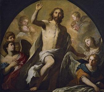 Cristo resucitado. Cuadro de Novelli