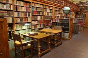 Biblioteca. Fotografía de la biblioteca de Monserrat