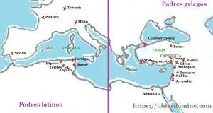 Mapa situación Padres de la Iglesia siglos II-VIII