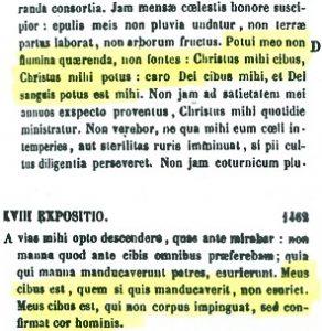Presencia real de Cristo en la eucaristía. S. Ambrosio (PL 15,1461 D - 1462 A)