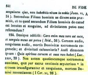 Presencia real de Cristo en la eucaristía. S. Ambrosio (PL16,641 A)
