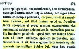 Presencia real de Cristo en la eucaristía. San Agustín (PL 42,974)