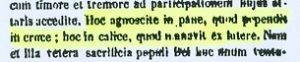 Presencia real de Cristo en la eucaristía. San Agustín (PL 46,827)