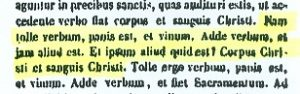 Presencia real de Cristo en la eucaristía. San Agustín (PL 46,836)
