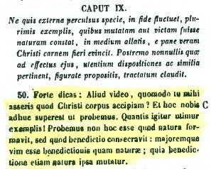 Presencia real de Cristo en la eucaristía. San Ambrosio (PL 16,405 B - C)