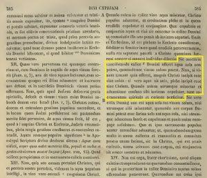 Presencia real de Cristo en la eucaristía. San Cipriano (PL 4,384A)