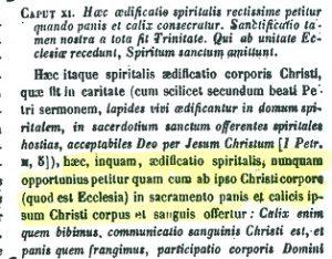 Presencia real de Cristo en la eucaristía. San Fulgencio de Ruspe (PL 65,190 B)