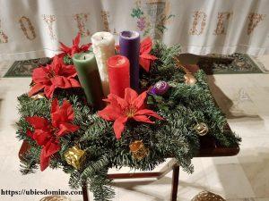 Lecturas del domingo y solemnidades - Ciclo B. Fotografía de una corona de Adviento