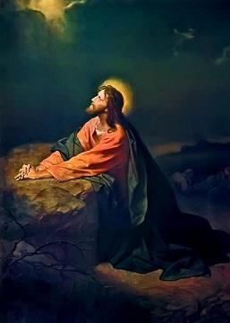 El sacrificio eucarístico. La oración del huerto. Foto