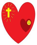 Conocimiento interno del Señor. Dibujo que representa nuestro corazón enamorado dentro del corazón de Cristo
