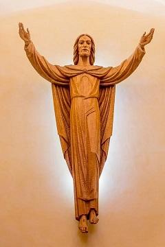 La resurrección de Cristo. Talla en madera