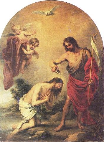 El Espíritu Santo. Bautismo de Jesús, cuadro de Bartolomé Esteban Murillo que está en la catedral de Sevilla
