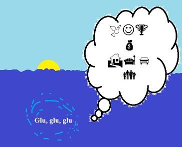 Resumen de la encíclica Fratelli tutti. Dibujo que representa el naufragio de las ilusiones de muchos inmigrantes.