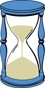 Esperanza. Dibujo de un reloj de arena
