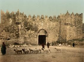 Los profetas del Antiguo Testamento. Foto de la puerta de Damasco en Jerusalén